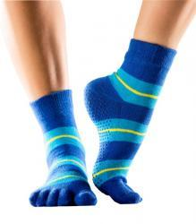 Full Toe Ankle Grip - blue with yellow stripe