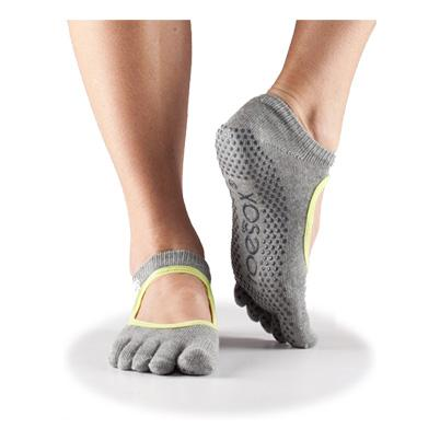 Full Toe Bella Grip - heather grey w/limeaid trim