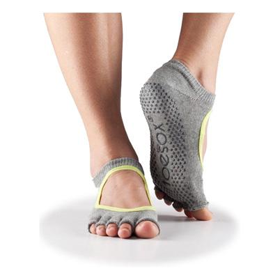 Half Toe Bella Grip - heather grey with lime