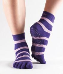 Full Toe Ankle Grip - purple stripe
